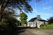 Thatched Cottage Prints - County Clare Cottage Print by John Quinn