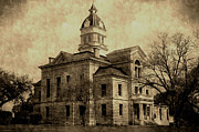 Bandera Posters - County Courthouse in Bandera Texas Poster by Sarah Broadmeadow-Thomas