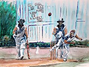 Cricket Paintings - County Cricket by Richard Jules