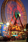 Photographers Fairburn Posters - County Fair Ferris Wheel 2 Poster by Corky Willis Atlanta Photography