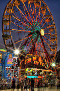 Photographers Fairburn Posters - County Fair Ferris Wheel Poster by Corky Willis Atlanta Photography
