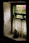 Windowsills Posters - County Kerry, Ireland Cottage Window Poster by Richard Cummins