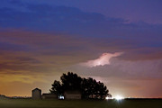 Lighning Prints - County Line 1 Northern Colorado Lightning Storm Print by James Bo Insogna