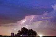 Lighning Prints - County Line Northern Colorado Lightning Storm Print by James Bo Insogna