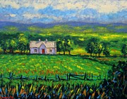 Impressionism Acrylic Prints Art - County Wicklow Ireland by John  Nolan