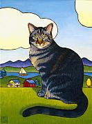 Art For Children Framed Prints - Coupeville Cat Framed Print by Stacey Neumiller