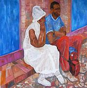 Santeria Paintings - Couple by Helen Joyce