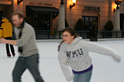Speed Skating Art - Couple ice skating by Purcell Pictures