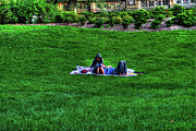 Relaxing Photo Originals - Couple in Central Park by Randy Aveille