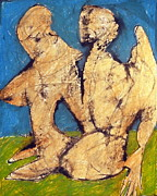 Amazing Pastels Prints - Couple In Landscape Print by JC Armbruster