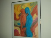 Couple Pastels Framed Prints - Couple Framed Print by Kasper Castillo