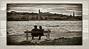 Prague Photos - Couple on the Bench by Madeline Ellis