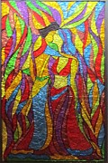 Paint Glass Art - Couple by Suja Mithun