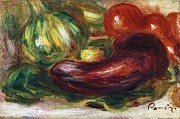 Squash Paintings - Courgettes Tomates et Aubergine by Pg Reproductions