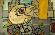 Bicycle Painting Originals - Courier by Charlie Spear