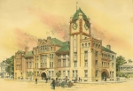 Victorian Architecture Prints - Court House Savannah Georgia 1889 Print by William Preston