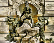 Fountain Print Prints - Court of Neptune Fountain Print by Steven Ainsworth
