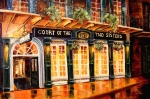 Street Lights Prints - Court of the Two Sisters Print by Diane Millsap