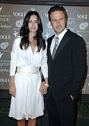 Long Sleeved Dress Photo Posters - Courteney Cox Arquette,david Arquette Poster by Everett