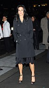 Trench Coat Framed Prints - Courteney Cox At Arrivals For Avon Framed Print by Everett