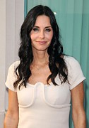 Gold Necklace Photo Posters - Courteney Cox In Attendance For Atas Poster by Everett