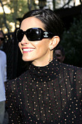 Featured Framed Prints - Courteney Cox Wearing Chanel Sunglasses Framed Print by Everett