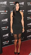 Black Top Photo Prints - Courteney Cox Wearing The Row Print by Everett