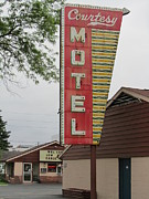 Todd Sherlock Art - Courtesy Motel by Todd Sherlock