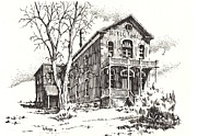 Abandoned  Drawings - Courthouse Bannack Ghost Town Montana by Kevin Heaney