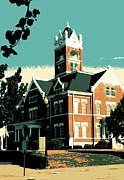Deeds Posters - Courthouse Square Poster by Sheri Parris