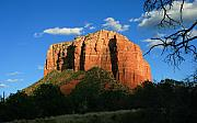 Sedona. Sunset Framed Prints - Courthouse Sunset Framed Print by Gary Kaylor
