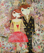 Couple Mixed Media - Courting Couple by Denise Sauer