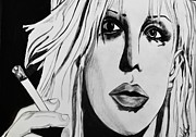 Grunge Drawings - Courtney Love by Cat Jackson