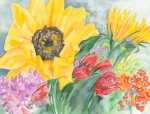 Courtney's Sunflower Print by Kimberly Lavelle