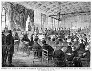 Trial Art - Courtroom Trial, 1868 by Granger