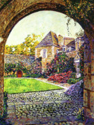 Courtyards Prints - Courtyard Impressions Provence Print by David Lloyd Glover
