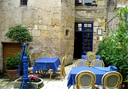 Dany Lison Metal Prints - Courtyard in Provence Metal Print by Dany Lison