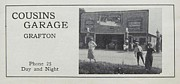 Chatham Digital Art Prints - COUSINS GARAGE ca 1931 Print by Grafton Ontario