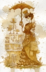 Women Painting Prints - Couture Print by Brian Kesinger