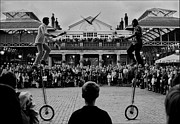 Jugglers Photos - Covent Garden Street Performers by Aldo Cervato