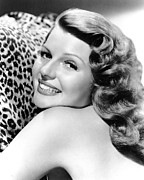 Leopard Skin Framed Prints - Cover Girl, Rita Hayworth, 1944 Framed Print by Everett