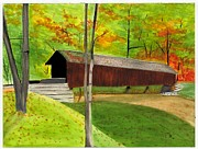 Covered Bridge 1 Print by David Bartsch