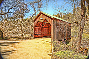 Your Home Framed Prints - Covered Bridge Framed Print by Cheryl Young