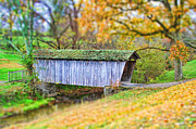 Tilt Shift Framed Prints - Covered Bridge Framed Print by Darren Fisher