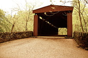 Wissahickon Photos - Covered Bridge by C  G Emilio