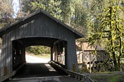 Covered Bridge Pyrography Metal Prints - Covered Bridge Metal Print by Garry Kaylor