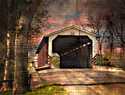 Lancaster Photos - Covered Bridge In Lancaster by Kathy Jennings