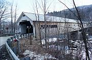 Covered Bridge In Southern Vermont Print by John Power
