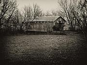 Covered Bridge Digital Art Metal Prints - Covered Bridge in Upstate New York Metal Print by Bill Cannon