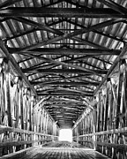 Lumber Prints - Covered Bridge Interior Knights Ferry CA Print by Troy Montemayor